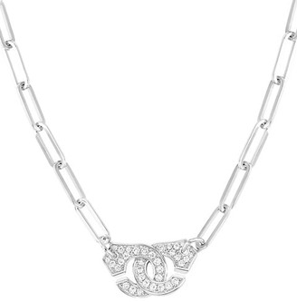 Dinh Van Menottes 18K White Gold & Diamonds Chain Necklace