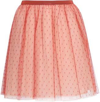 RED Valentino Gathered Point D'esprit Mini Skirt