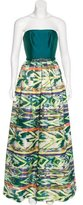 Theia Printed Embellished Gown w/ Tags