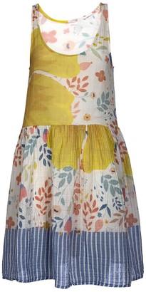 Naftul Izzy Dress Summer Original Print Organic Cotton Summer Vacation Midi Dress