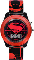 DC COMICS DC Comics Batman vs. Superman LCD Flash Dial with Printed Red Superman Watch