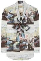Burberry Lobelia printed cotton blouse