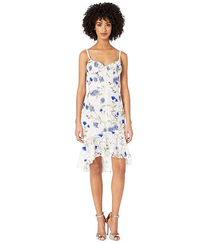 7c9ca39d6b0b Marchesa Notte Embroidered Cocktail Dress - ShopStyle