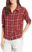 RVCA Women's Drift Away Plaid Shirt