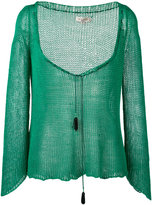 Etro tassel detail deep-V jumper - women - Silk - 42
