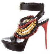 Burberry Beaded Platform Sandals