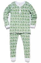 Roberta Roller Rabbit Kids Monkey Pajama Set in Green
