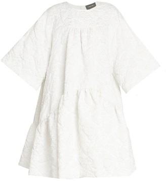 Simone Rocha Short Gathered Cloque Dress