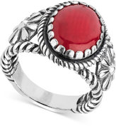 American West Coral Flower Shank Ring (5-3/8 ct. t.w.) in Sterling Silver