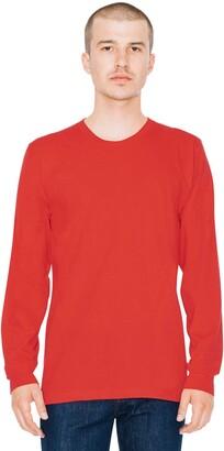 American Apparel Men's Fine Jersey Crewneck Long Sleeve T-Shirt
