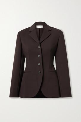 The Row Rifka Wool-blend Crepe Blazer - Dark brown
