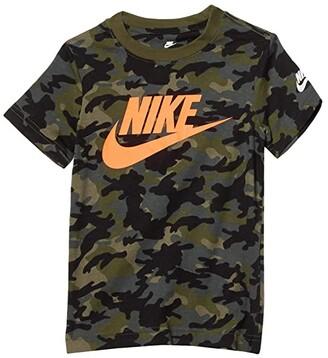 Nike Kids Short Sleeve Camo Print T-Shirt (Toddler/Little Kids) (Medium Olive) Boy's Clothing