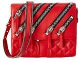 Giuseppe Zanotti Zipper Leather Shoulder Bag.