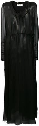 Saint Laurent sheer maxi dress