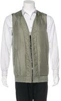 Rag & Bone Qilted Silk Zip Vest