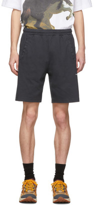 Acne Studios Black Reversed Logo Shorts