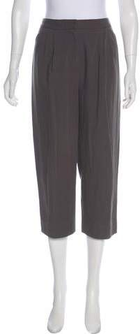 Halston High-Rise Cropped Pants