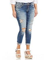 Silver Jeans Co. Plus Suki Skinny Cuffed Crop Jean