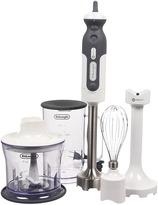 De'Longhi DeLonghi - DHB723 Hand Blender w/Chopper, Whisk, Beaker, Blender (White/Silver) - Home