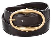 Saint Laurent Gold-Tone Leather Belt