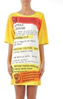 Moschino Short-Sleeve Prescription Print T-Shirt Dress