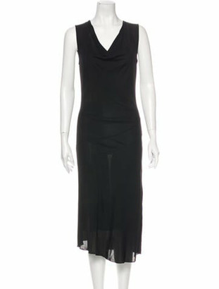 Gucci Cowl Neck Midi Length Dress Black