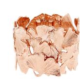 Aurelie Bidermann Ginkgo rose-gold plated wide bracelet