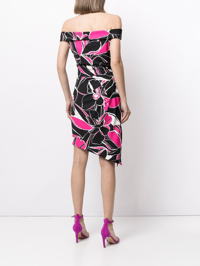 Thumbnail for your product : Milly Ally floral print midi dress