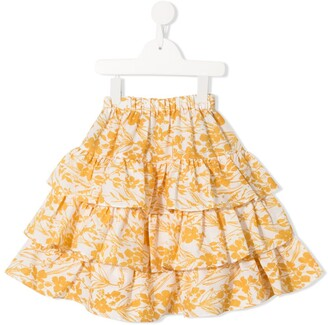 Little Bambah Floral Print Layered Skirt
