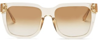 Linda Farrow Freya Square Acetate Sunglasses - Nude