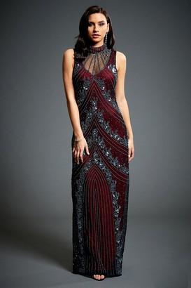 Jywal London Vivian Embellished Halter Neck Dress