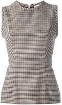 P.A.R.O.S.H. pied de poule blouse - women - Cotton/Acrylic/Polyester/Wool - M