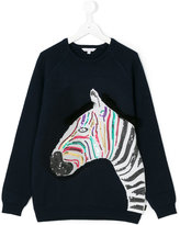 Little Marc Jacobs sequinned zebra sweatshirt - kids - Cotton/Cashmere - 14 yrs