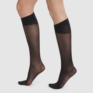 Dim Perfect Contention 25D Transparent Knee-High Socks
