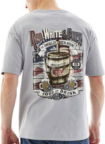 JCPenney NO BAD DAYS No Bad Days Red, White & Brew Graphic Tee