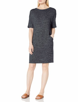Daily Ritual Cozy Knit Seamed Pocket Dress