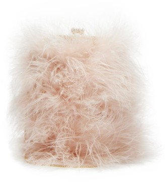 Rosantica Hippy Nuvola Marabou-feather Bag - Light Pink