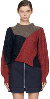 Etoile Isabel Marant Red and Grey Arty Knit Sweater