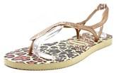 Havaianas Luna Women Open-toe Synthetic Bronze Slingback Sandal.