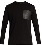 Fendi Leather-patch Wool Sweater