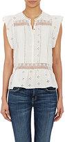 Ulla Johnson Women's Oksana Flutter-Sleeve Top-WHITE