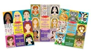 Melissa & Doug Make-a-Face Sticker Bundle - Princesses, Fashion and Crazy Animals