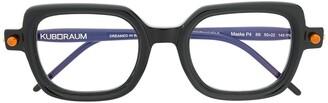Kuboraum P4 square frame glasses