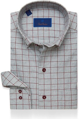David Donahue Casual Windowpane Shirt