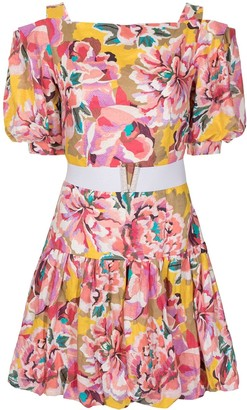 Ginger & Smart Flourish floral-print linen dress