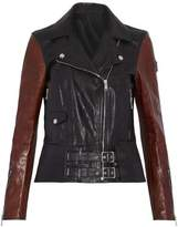 Belstaff Two-Tone Leather Biker Jacket
