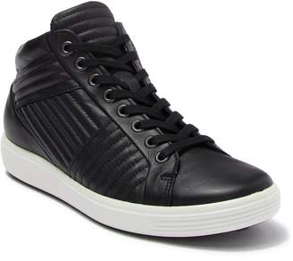 Ecco Soft 7 Quilted Leather High Top Sneaker