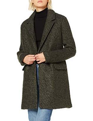 Only Women's Onlally Boucle Wool Coat Cc OTW, Green Forest Night, S