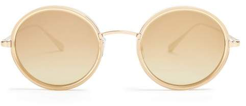 Garrett Leight Playa 48 Round Frame Sunglasses - Womens - Gold Multi