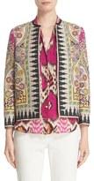 Etro Women's Ikat Paisley Print Open Front Jacket